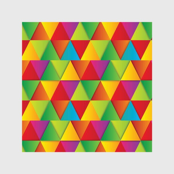 Шторы «Яркие треугольники»