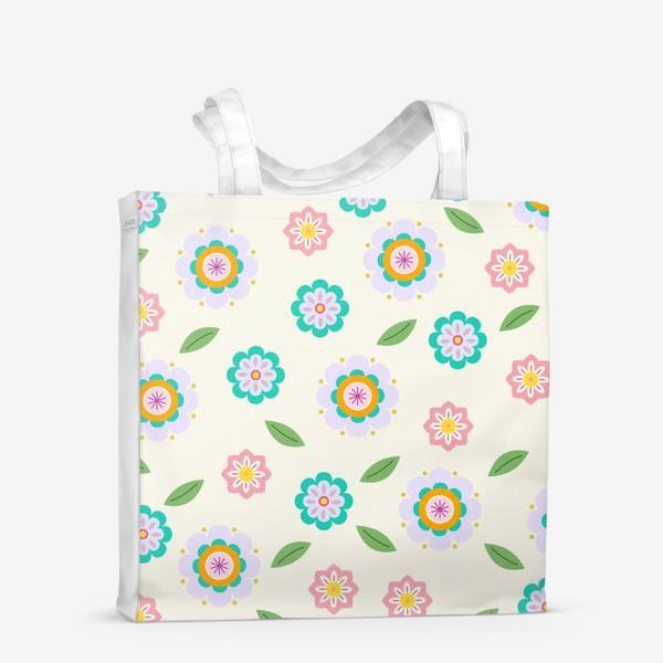 Сумка-шоппер «скандинавские цветочки»