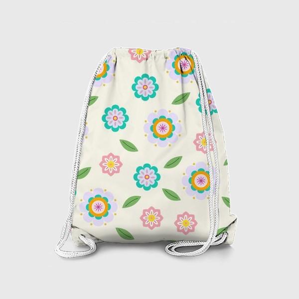 Рюкзак «скандинавские цветочки»