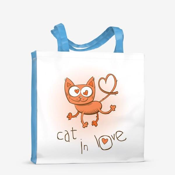 Сумка-шоппер «Влюблённый кошка»