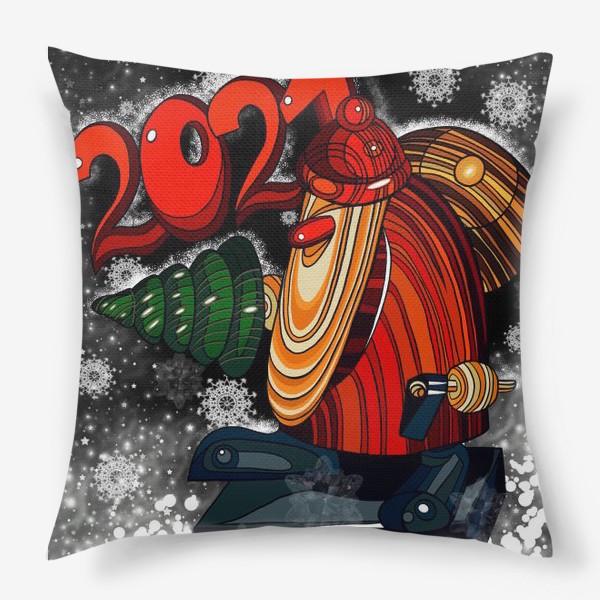 Подушка «Дед Мороз 2.0 - 2.1. Ночь . Новогодняя сказка. Чудо. Волшебство.»
