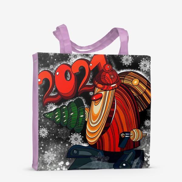 Сумка-шоппер «Дед Мороз 2.0 - 2.1. Ночь . Новогодняя сказка. Чудо. Волшебство.»