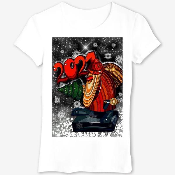 Футболка «Дед Мороз 2.0 - 2.1. Ночь . Новогодняя сказка. Чудо. Волшебство.»