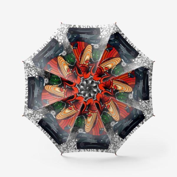 Зонт «Дед Мороз 2.0 - 2.1. Ночь . Новогодняя сказка. Чудо. Волшебство.»
