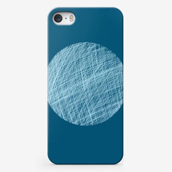 Чехол iPhone «Луна, абстракция на синем»