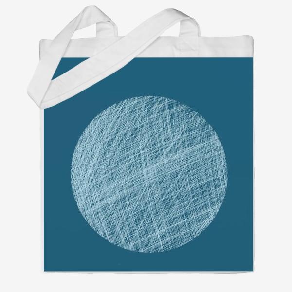 Сумка хб «Луна, абстракция на синем»