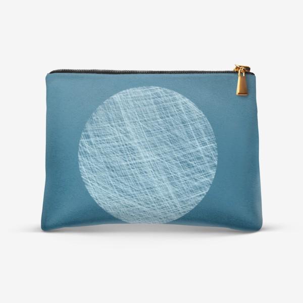 Косметичка «Луна, абстракция на синем»