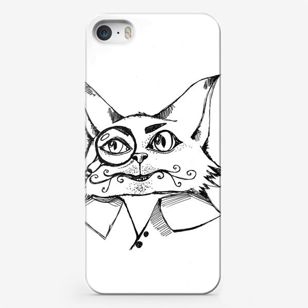 Чехол iPhone «Кот с пенсне»