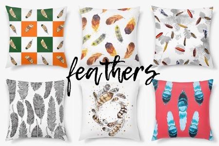 Декоративные подушки с перьями от PinkBus