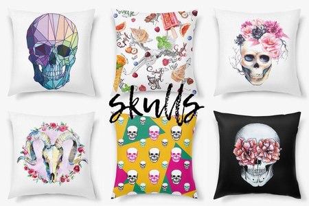 Декоративные подушки с черепами от PinkBus