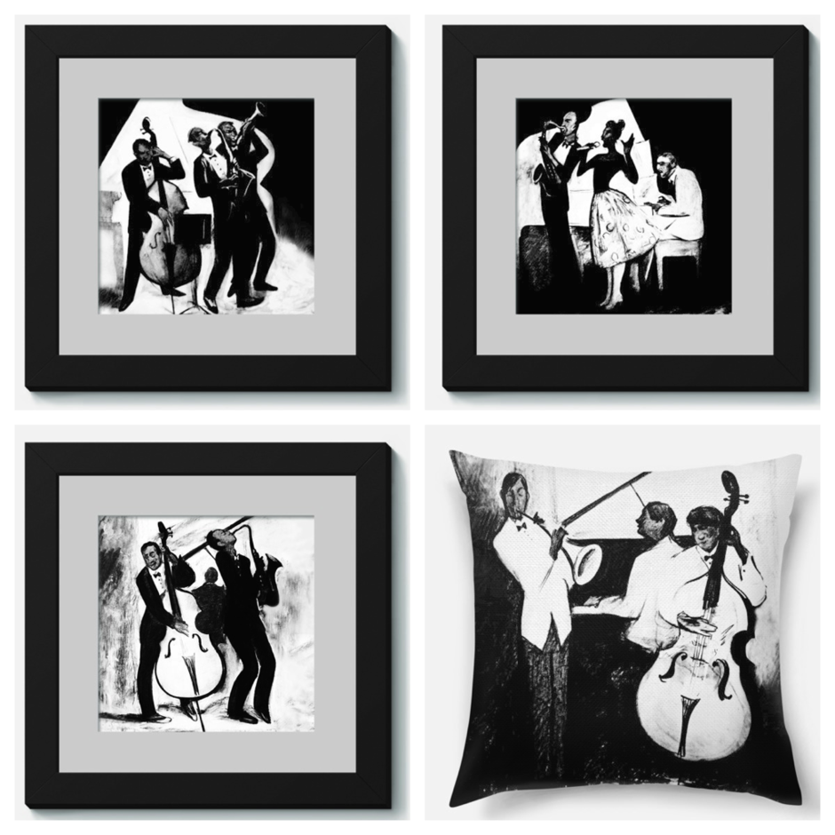 картинки черно белые на стену